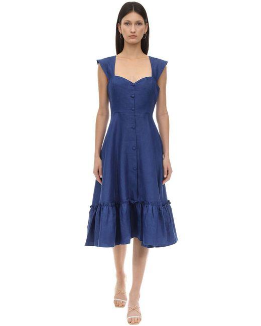 "Robe En Lin ""camilla"" Gioia Bini en coloris Blue"