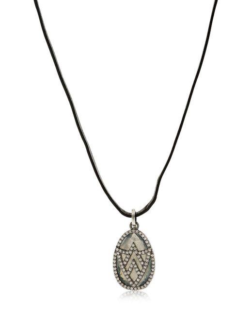 Jade Jagger - Black Chevron Shield Diamond Pendant Necklace for Men - Lyst