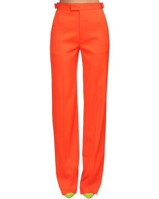 The Attico Orange Hose Aus Wollgabardine