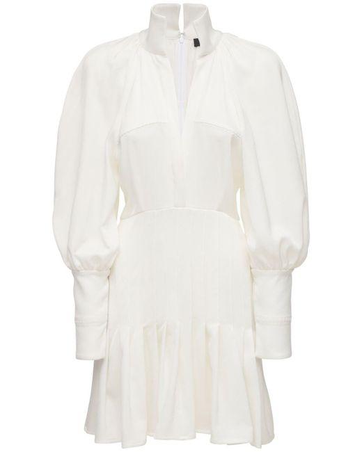 Ellery Butler クレープシャツミニドレス White