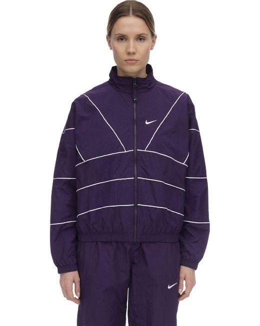 Nike Nrgトラックジャケット Purple