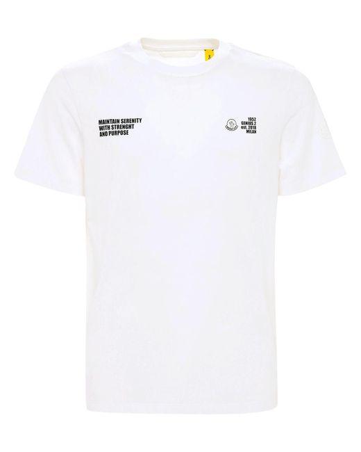 メンズ Moncler Genius 1952 コットンジャージーtシャツ White