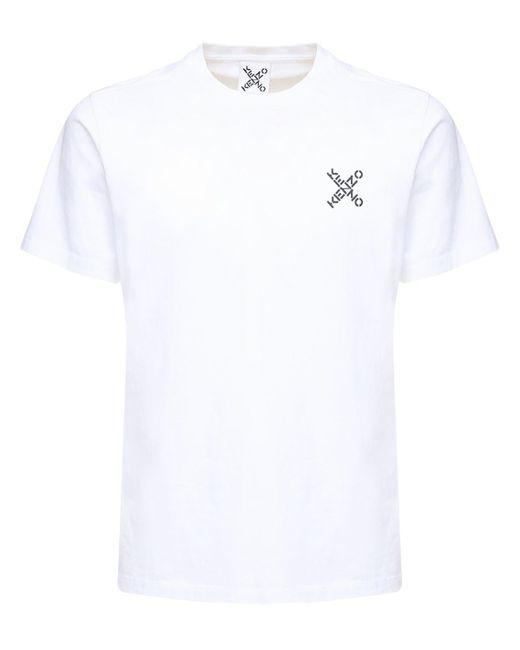 メンズ KENZO コットンtシャツ White