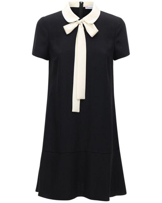 Короткое Атласное Платье Из Крепа RED Valentino, цвет: Black