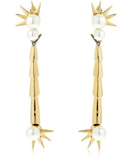 Schield | Metallic Scorpion Cyborg Earrings | Lyst