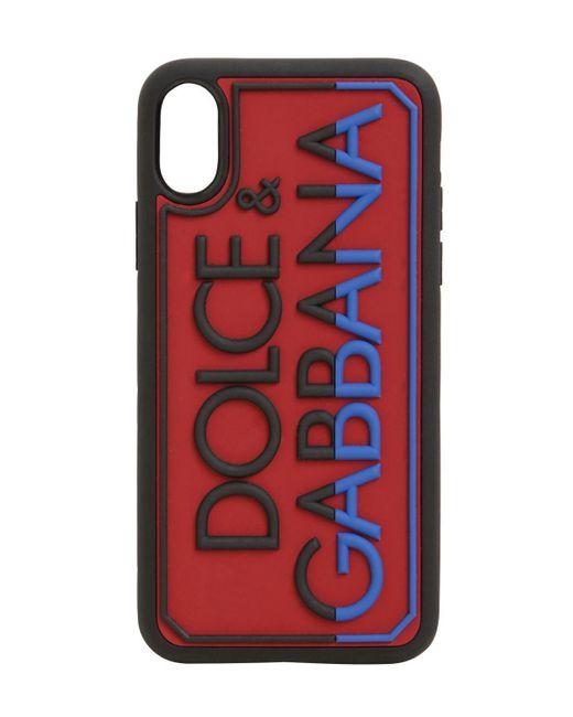 Dolce & Gabbana エンボスラバーiphone X/xsカバー Black
