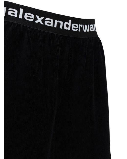 Alexander Wang ストレッチコーデュロイショートパンツ Black