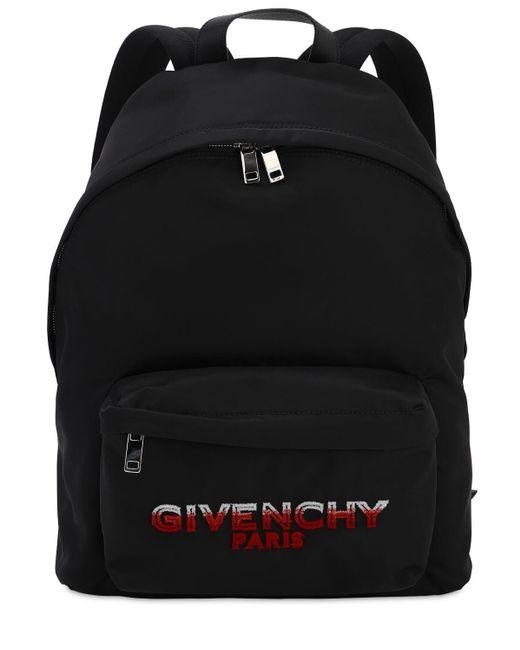 メンズ Givenchy ナイロンバックパック Black