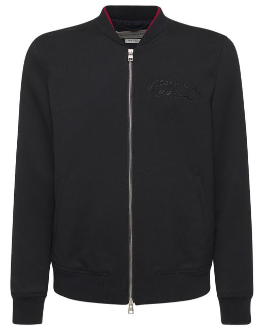 Куртка-бомбер Из Шерсти Alexander McQueen для него, цвет: Black
