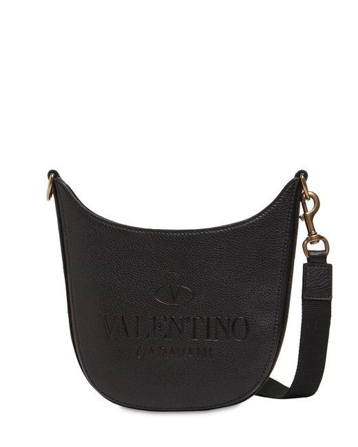 メンズ Valentino Garavani Hobo レザーバッグ Black
