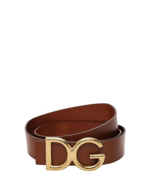 メンズ Dolce & Gabbana Dg レザーベルト 35mm Brown