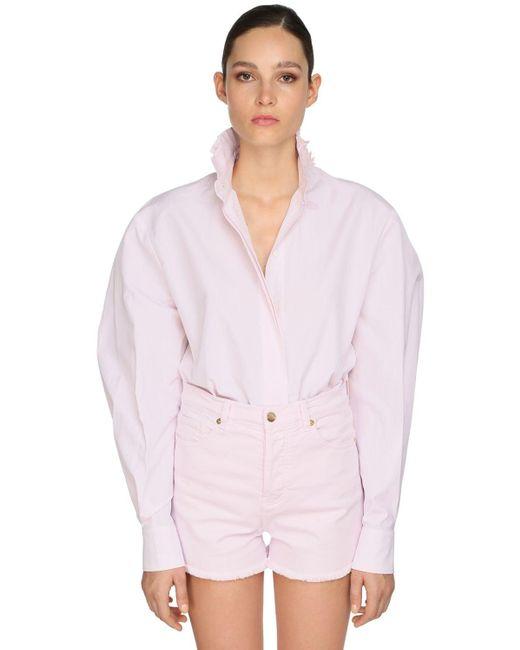 Alexandre Vauthier コットンポプリンシャツ Pink