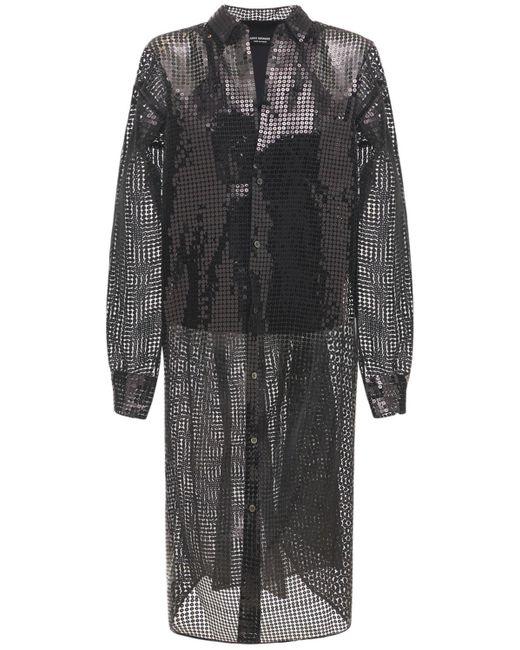 Junya Watanabe スパンコールナイロンメッシュジャケット Black