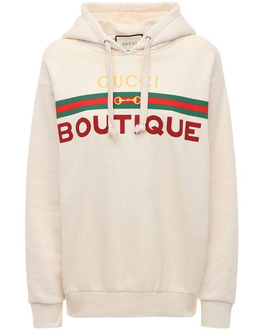 Худи С Принтом Boutique Gucci, цвет: White