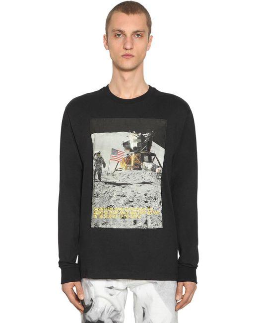 メンズ CALVIN KLEIN JEANS EST. 1978 コットンブレンドtシャツ Black