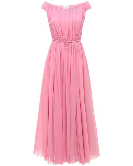 Giambattista Valli シルクジョーゼットドレス Pink