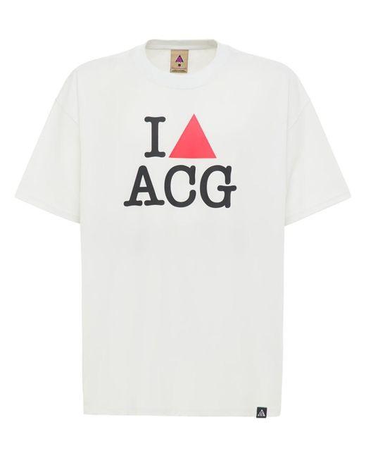 メンズ Nike I Heart Acg Tシャツ White