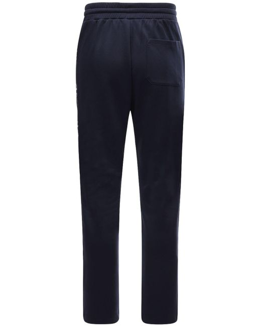 メンズ Valentino アセテートジョギングパンツ Blue