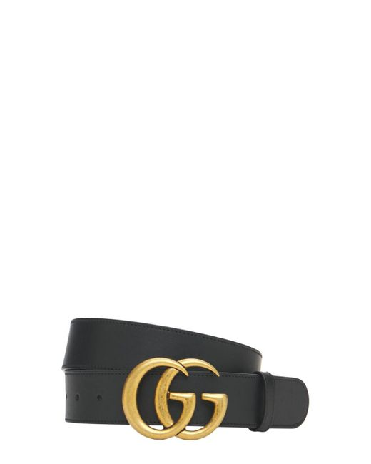 Gucci Gg レザーベルト 40mm Black