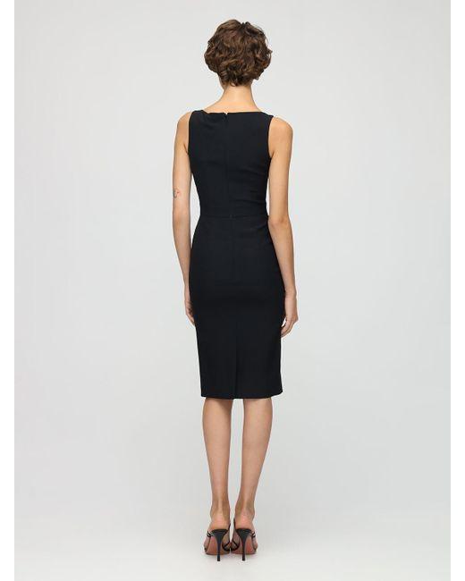 Платье Из Крепа Alexander McQueen, цвет: Black