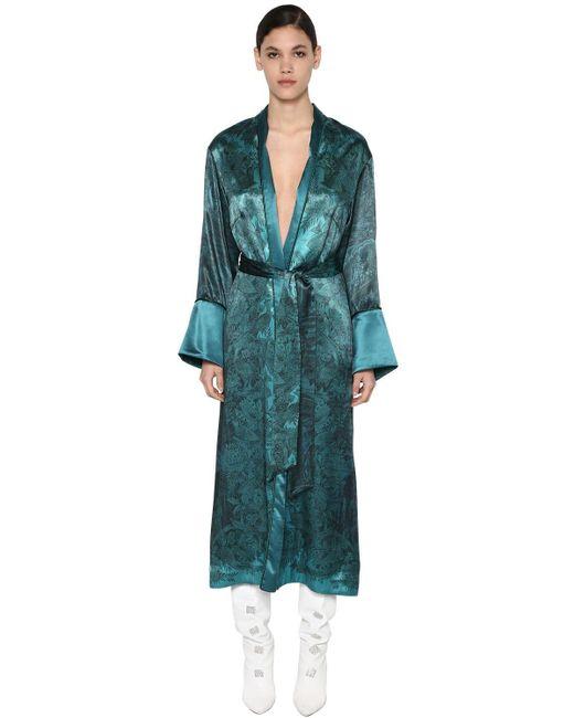 Пальто Из Шелка И Вискозы F.R.S For Restless Sleepers, цвет: Blue