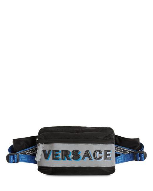 メンズ Versace ナイロンベルトバッグ Black