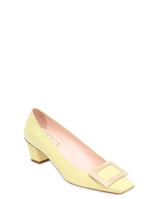 """Туфли """"belle Vivier"""" Из Лакированной Кожи 45mm Roger Vivier, цвет: Natural"""