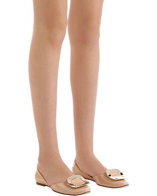 Roger Vivier Patent Leather d'Orsay Flats h8d4zuw