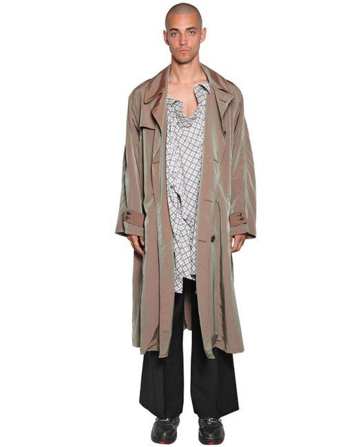 メンズ Maison Margiela テックトレンチコート&シャツ Natural