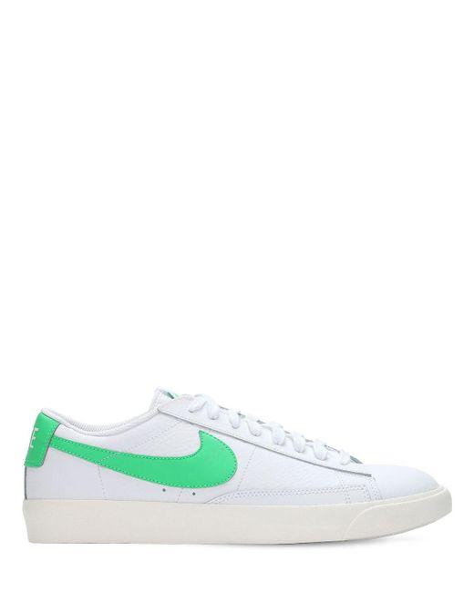 """Кожаные Кроссовки """"blazer Low"""" Nike для него, цвет: Multicolor"""