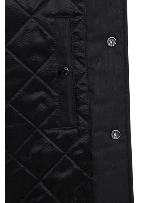 メンズ Burberry テックボンバージャケット Black