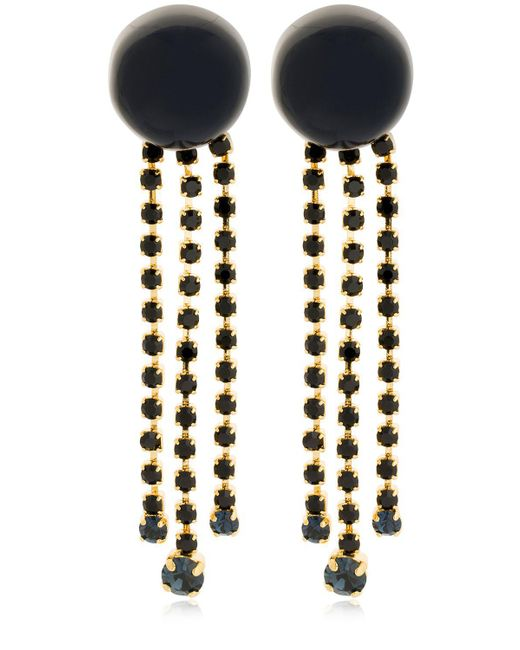Marni - Blue Dot With Crystal Fringe Clip-on Earrings - Lyst