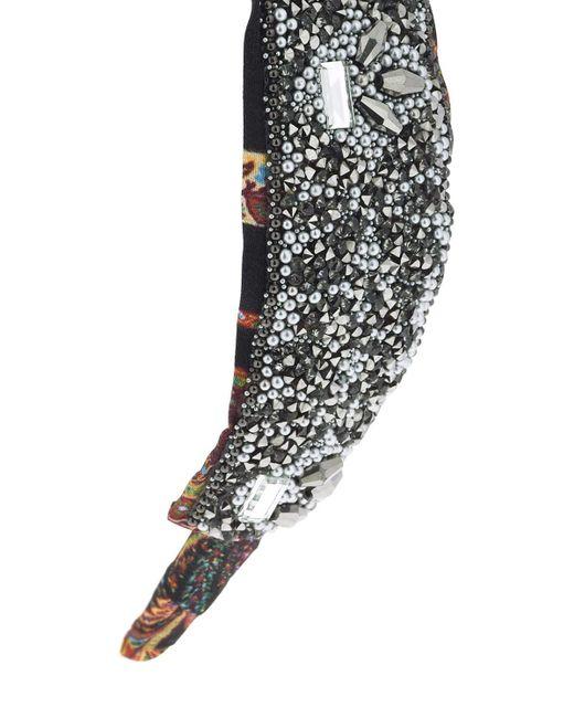 Cerchietto In Seta Con Cristalli di Etro in Black