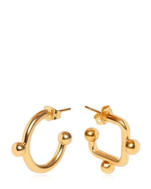 Marni   Metallic Mismatched Earrings   Lyst