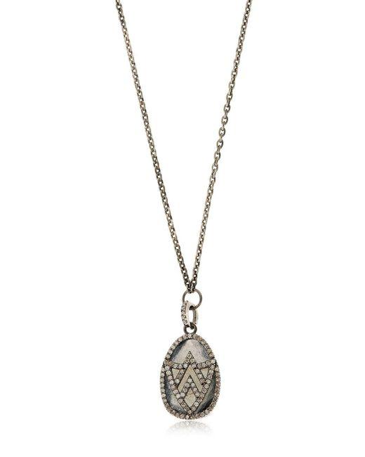 Jade Jagger | Metallic Chevron Shield Diamond Pendant Necklace | Lyst
