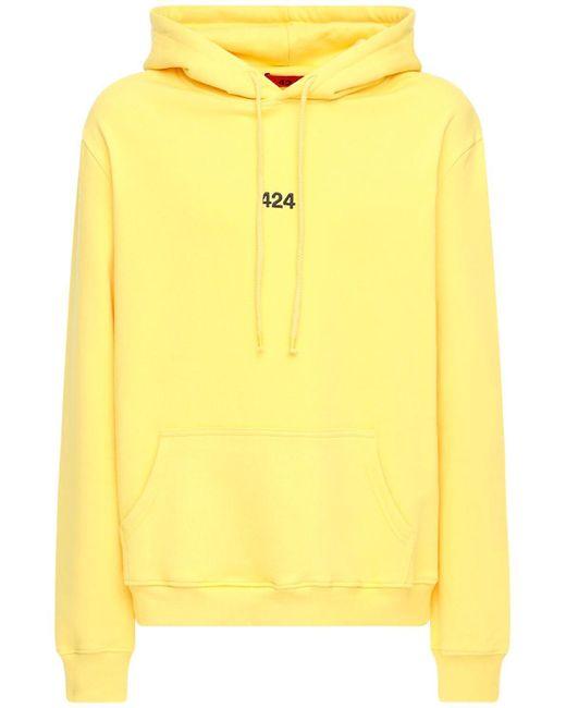 メンズ 424 コットンスウェットフーディー Yellow