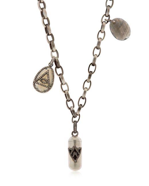 Jade Jagger - Metallic Collar De Plata Y Diamantes Con Colgantes for Men - Lyst