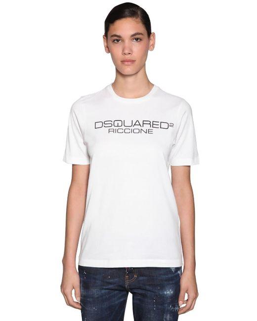 DSquared² コットンジャージーtシャツ White