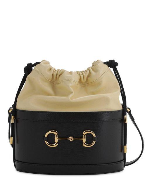 Gucci 1955 Horsebit Azalea バイカラーレザーバッグ Black