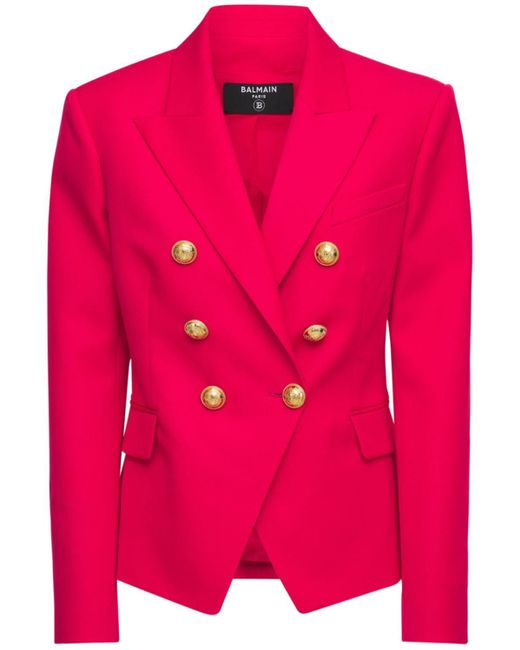 Balmain ウールブレザージャケット Pink
