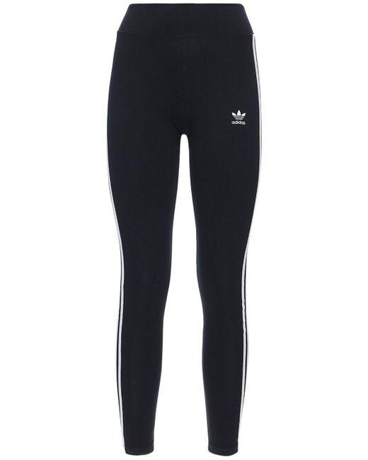 Adidas Originals 3 Stripes コットンレギンス Black