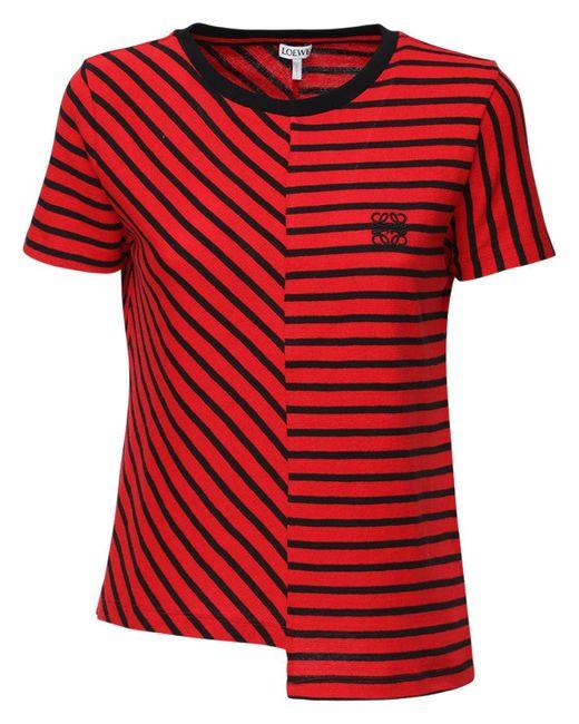 Loewe Red T-Shirt mit Streifen
