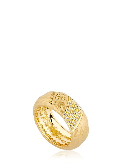 MARCO DAL MASO | Metallic The Other Half Ring With Diamonds | Lyst