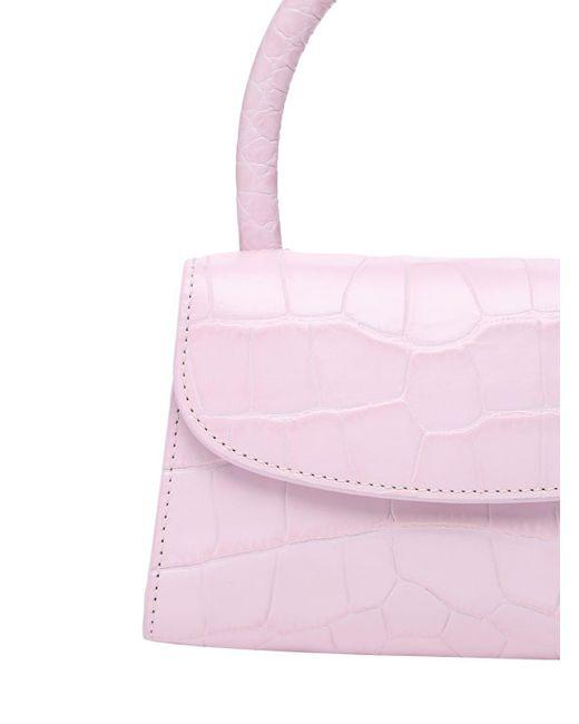 Petit Sac En Cuir Estampé Crocodile By Far en coloris Pink