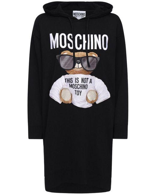 Moschino Bear コットンニットドレス Black
