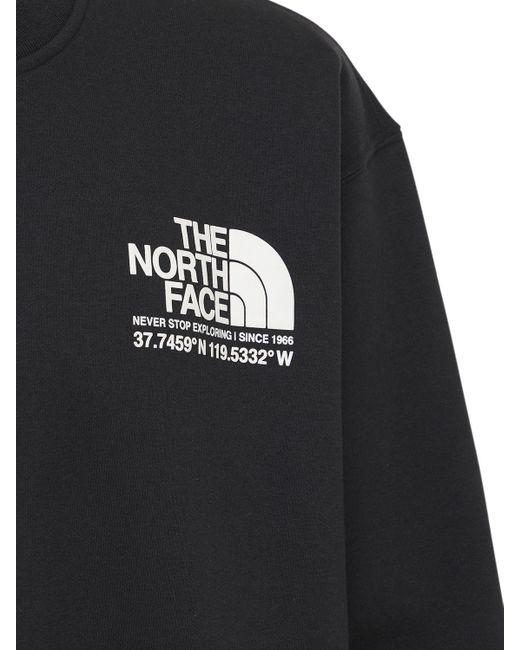メンズ The North Face コットンブレンドスウェットシャツ Black
