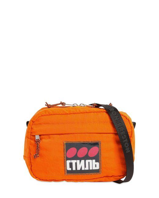 メンズ Heron Preston Ctnmb ナイロンバッグ Orange