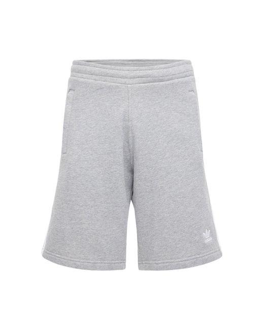 メンズ Adidas Originals 3-stripe コットンスウェットハーフパンツ Gray