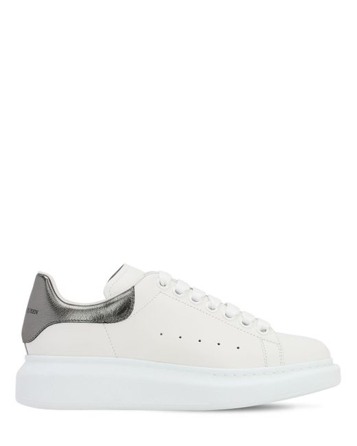Кожаные Кроссовки 40mm Alexander McQueen, цвет: White