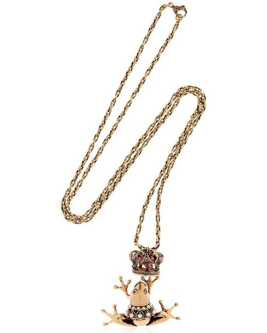 Alcozer & J | Metallic Frog Prince Necklace | Lyst